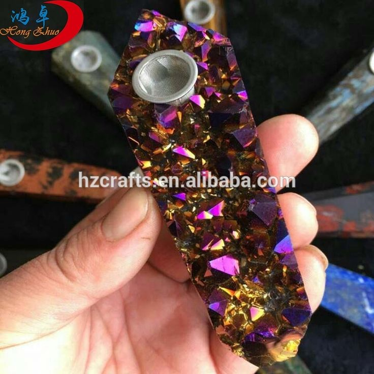 Natural quartz angel aura crystal pipe smoking pipe for sale