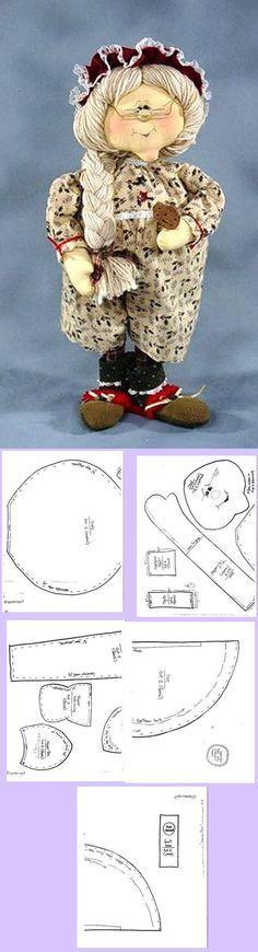 Vovó cloth doll pattern