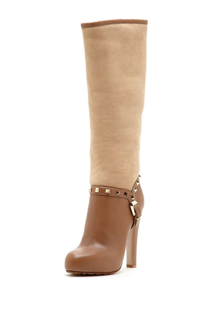Valentino Studded Shearing High Heel Boot