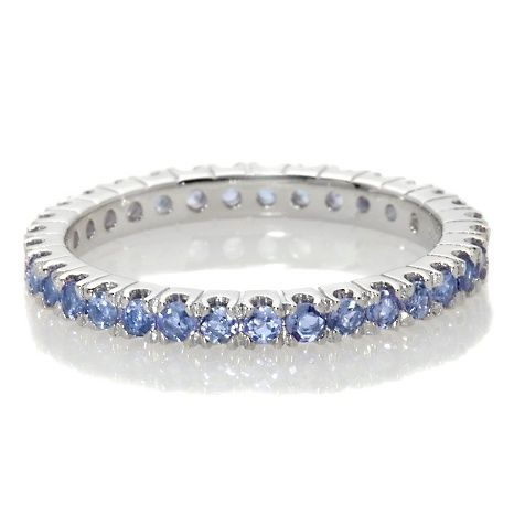 Victoria Wieck Tanzanite Eternity Band Stackable Ring