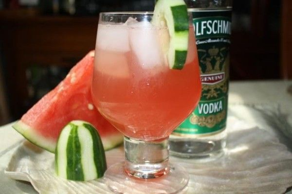 How to make a Watermelon-Cucumber Cooler #Cocktail on http://asianinamericamag.com