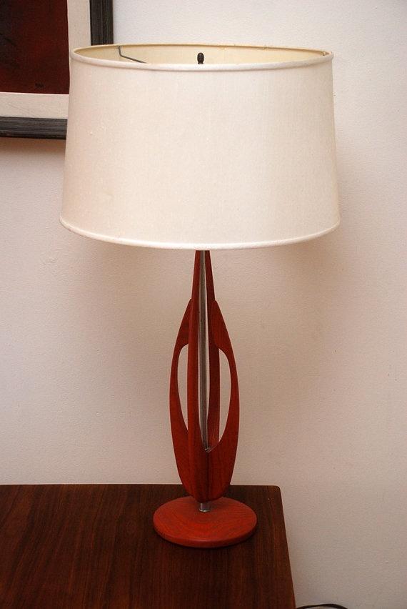 Sculptural Mid Century Modern Table Lamp Eames Era-- nice <3