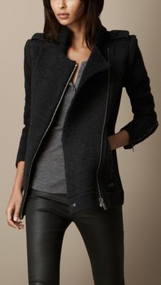 Burberry Brit Zip Detail Cardigan Jacket with Removable Sleeves
