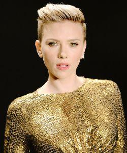 Haircut by Holly Jones, Haircolor by Naomi Knights, Tom Ford Show, Scarlett Johansson