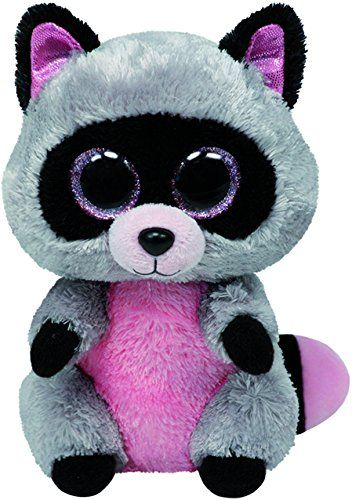 ty peluche | TY - Peluche mapache, 15 cm, color gris (United Labels 36727TY ...