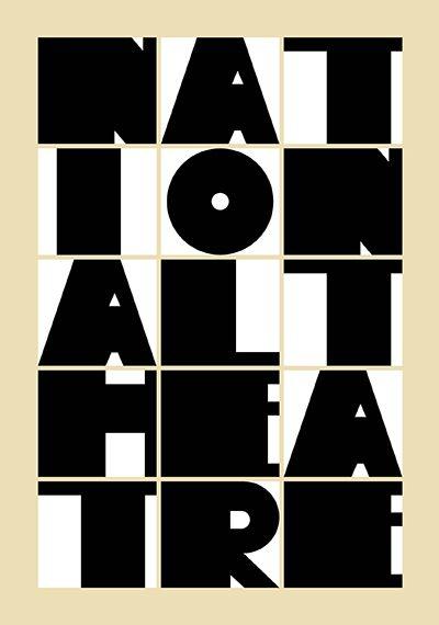 National Theatre Poster. Paula Scher.