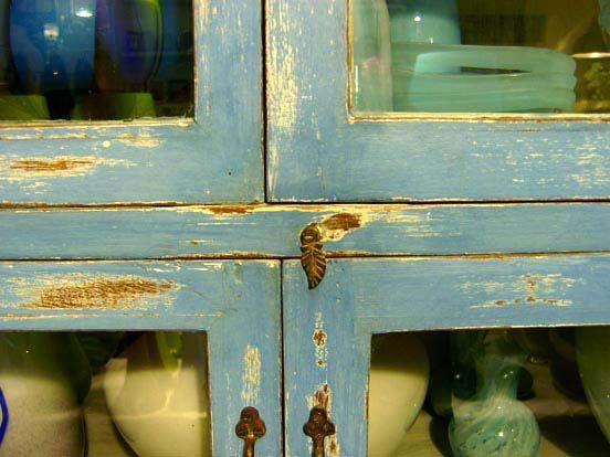 Blauwe oude kast uit india via cannella woonwinkel cuijk via cannella woonwinkel - Muur hutch ...