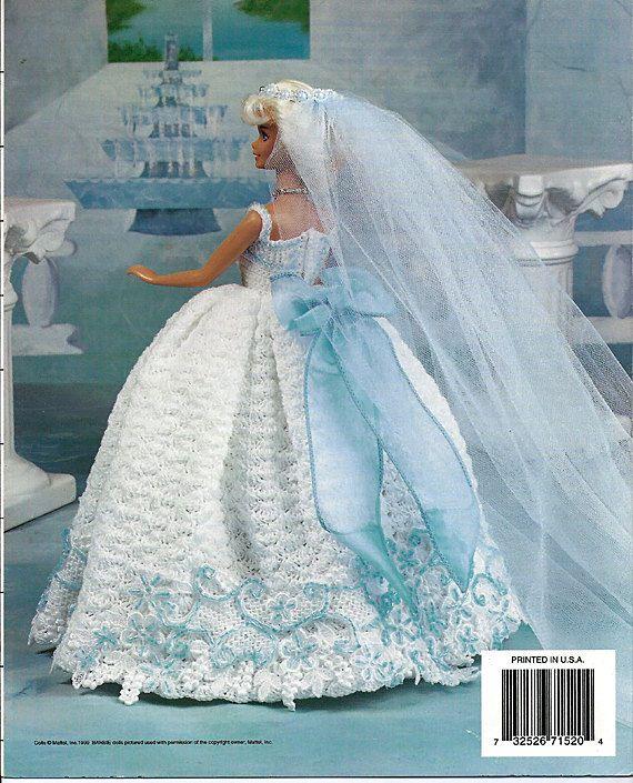 Sky Blue Bride  Fashion Doll  Crochet Pattern  Annies Attic 871520.