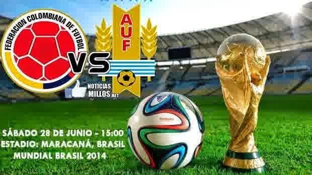 VegaSBOBETCasino - Prediksi Skor Laga 19-06-2014 Babak Perdelapan Final World Cup 2014 : Colombia Vs Uruguay