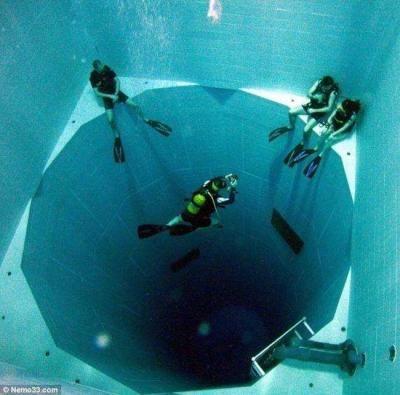 4. World's deepest swimming pool in Belgium.