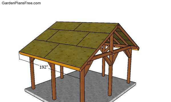 14x16 Outdoor Pavilion Plans Free Pdf Download Free Garden Plans How To Build Garden Projects Pavilion Plans Outdoor Pavilion Outdoor Kitchen Patio