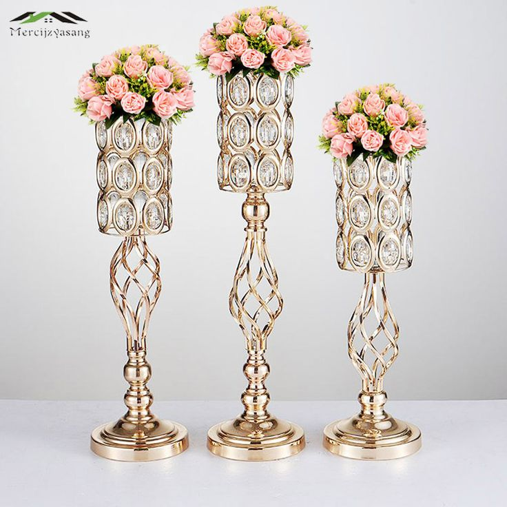Topten tips for Discount 4 Sale Price US $498.53 20PCS LOT Metal Gold Candle Holders Road Lead Table Centerpiece Stand Pillar Candlestick For Wedding Candelabra Flowers Vases 68 ing #Candles#Holders