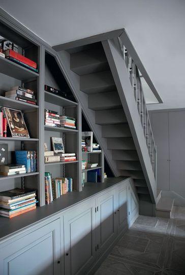 Pas de perte de place sous les escaliers - Campagne tendance - CôtéMaison.fr
