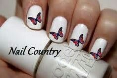 Rebel flag butterfly nailArt@NailCountry.com