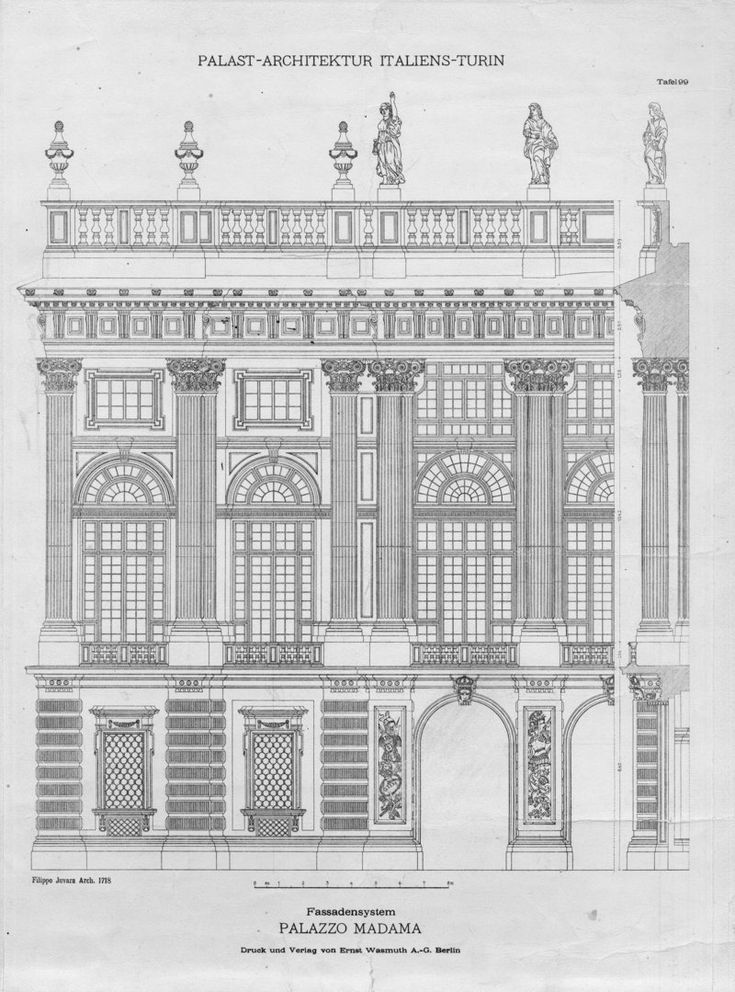 Palast architektur haupt albrecht drawing fasades - Architektur zeichnen ...