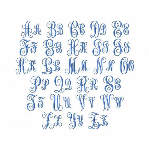 BOGO FREE Vine Monogram Font embroidery by EasyStitchesForYou