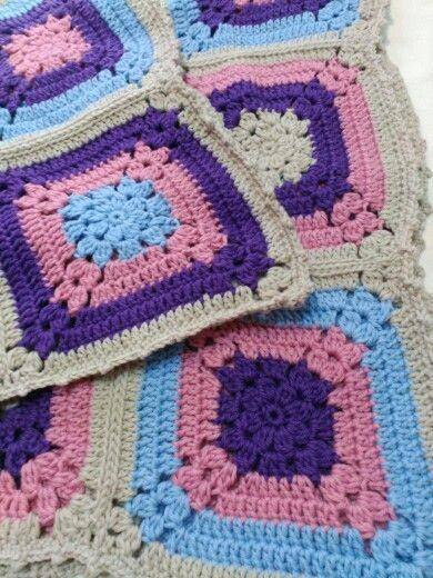 Manta granny crochet