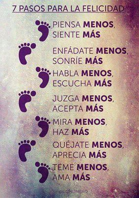 7 pasos para la felicidad. (X)                                                                                                                                                     Más