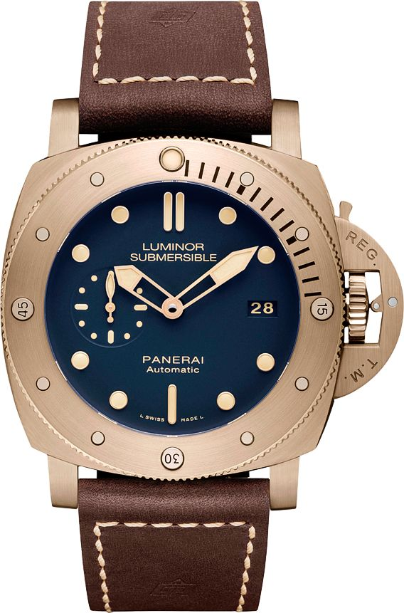 Panerai PAM 671 Luminor Submersible Bronzo Blue 47mm (1950 3 Days Automatic) - Perpetuelle