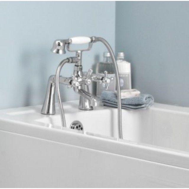 €60 Swirl Deck-Mounted Bath Shower Mixer Tap   Screwfix.ie