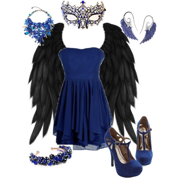 """Cute Dark Angel Costume"" by aubspowell on Polyvore"
