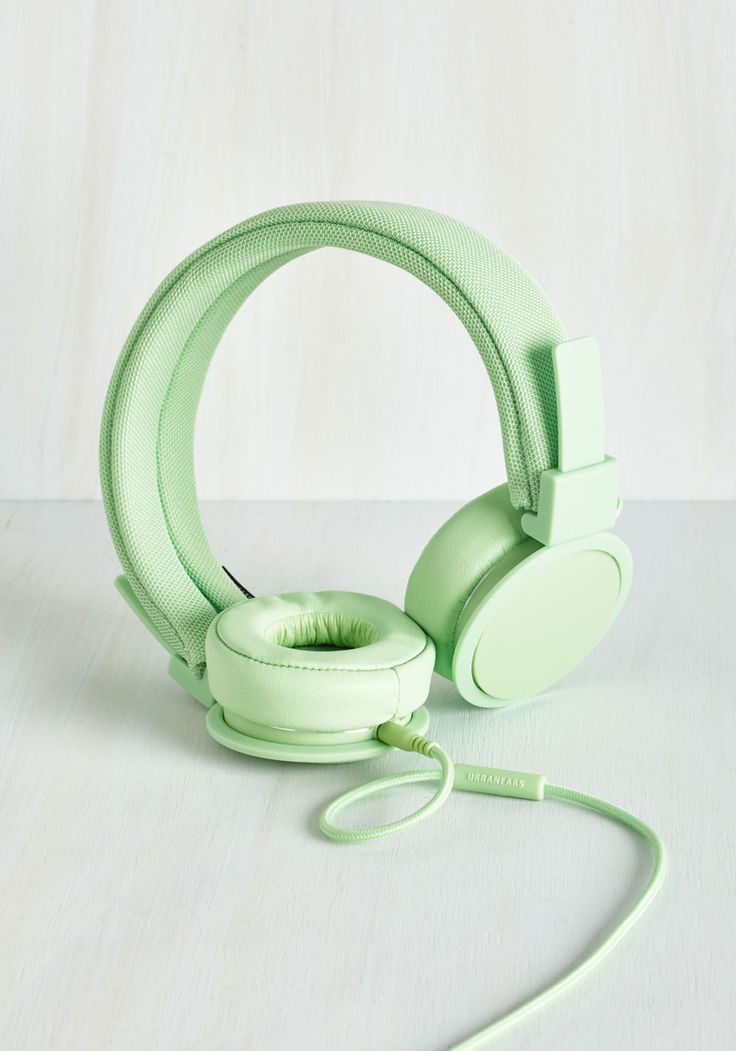 Embrace The Music Headphones in Mint. Give yourself the gift of fantastic tunes with these richly colored earphones by Urbanears! #mint #modcloth