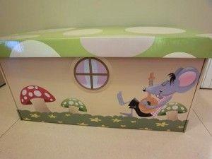 Un'idea utile per tenere in ordine la #cameretta dei bambini: un contenitore #portagiochi