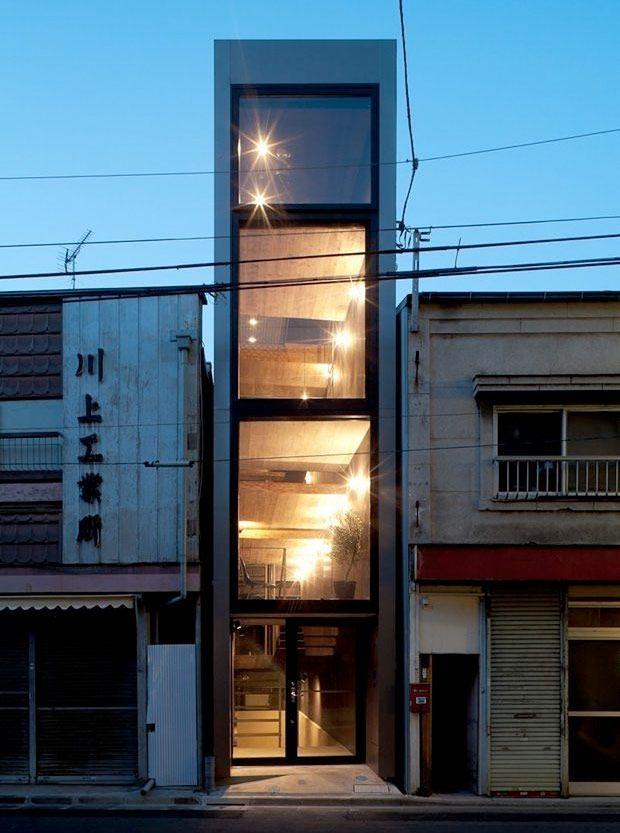 Spännande och smalt – det japanska huset är endast 183 cm brett - Sköna hem
