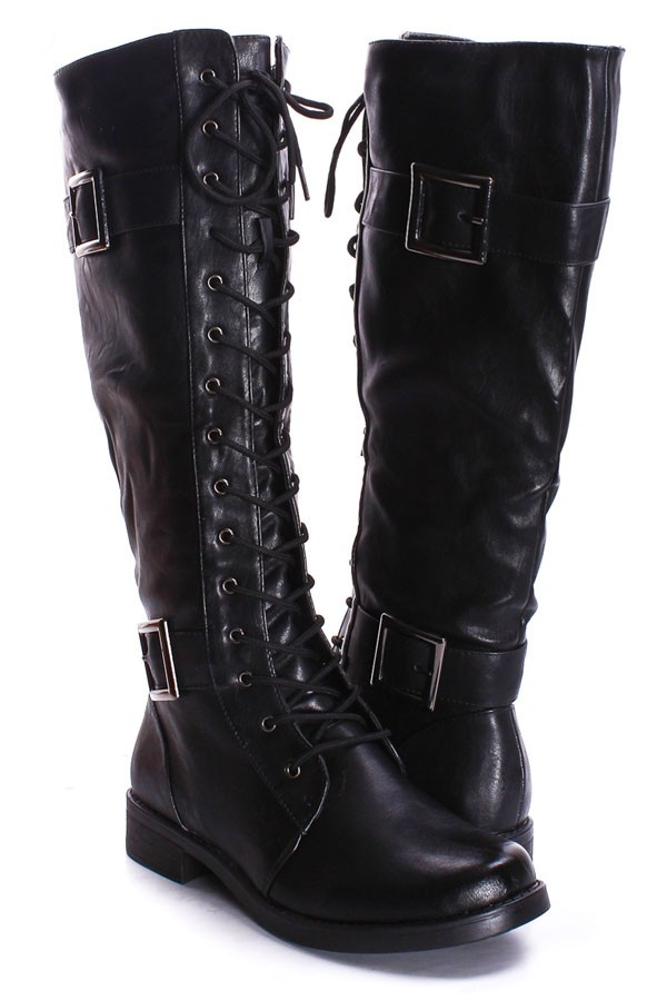 Shoes Boots Combat, Black Combat Boots, Leather Knee High Boots, Black Faux  Leather, Shoe Boots, Goth Shoes, Vegan Boots, Dark Gothic, Choir Dresses