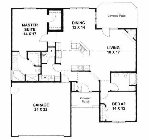Small casita floor plans 2000 house plans on plan 1658 for Handicapped accessible house plans