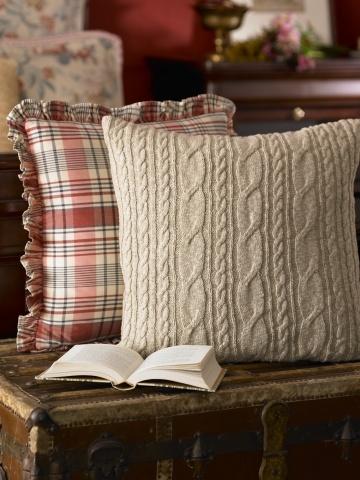 Ralph Lauren Cable-Knit Pillow