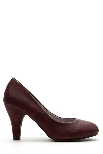 Classic Faux Leather Court Shoes: Classic Faux Leather Court Shoes