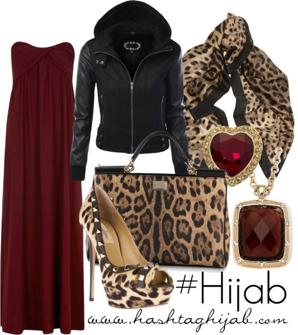 Hashtag Hijab Outfit #186 maybe too much cheetah print for me, but i like the dress and jacket.