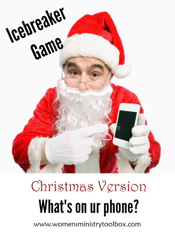 Christian Ladies Christmas Party Ideas Part - 16: Christmas Version: Whatu0027s On Ur Phone
