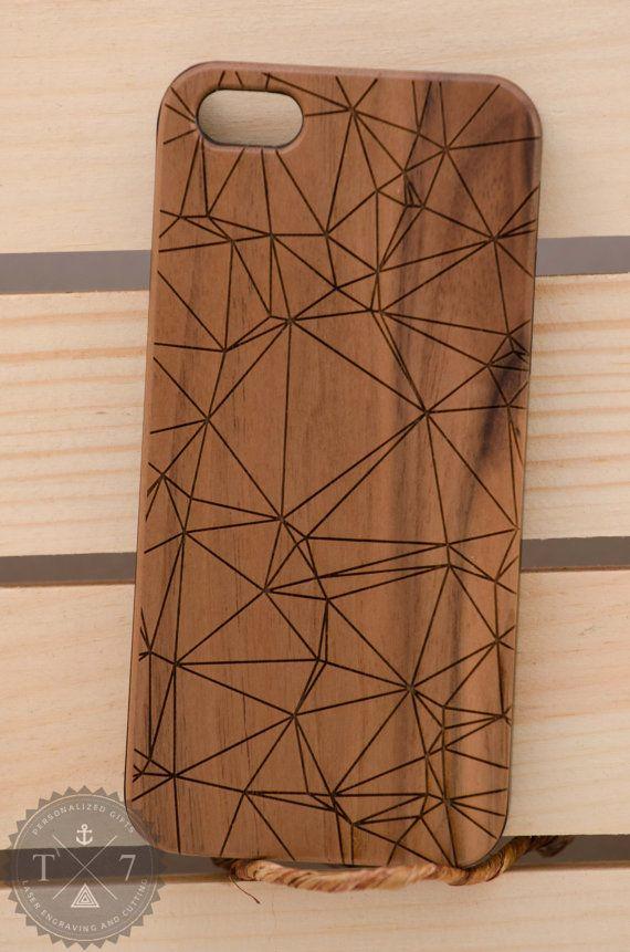 Polygone géométriques iPhone 6 iPhone 5 5 s en bois par StudioT7                                                                                                                                                                                 Mais