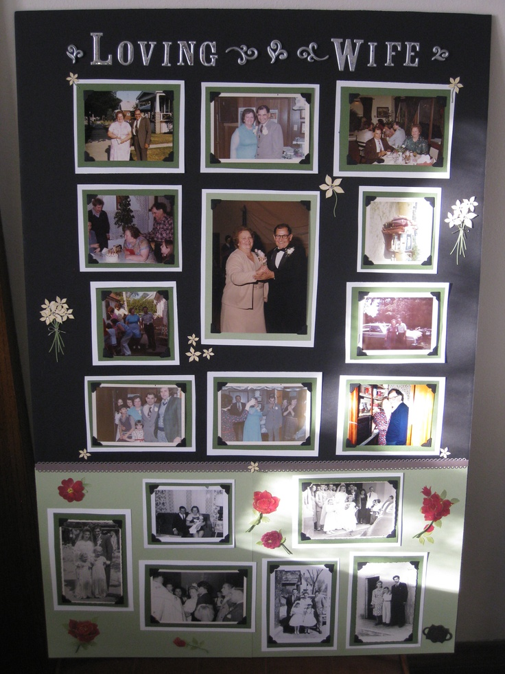 Poster Board Ideas For Funerals : Best images about memory boards memorial ideas on