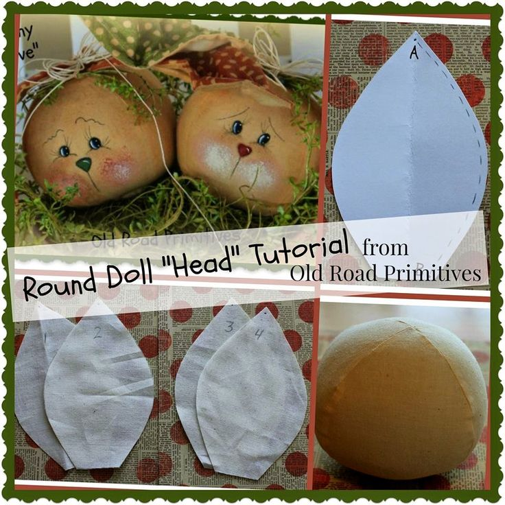 Round Doll Head Tutorial.