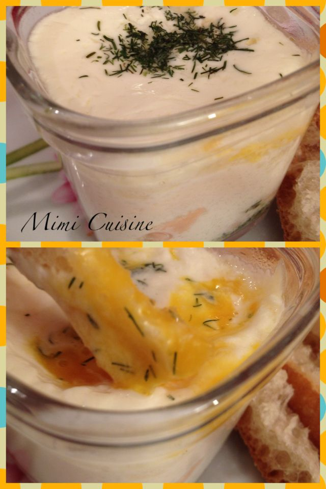 Oeufs cocottes au saumon. Retrouvez mes recettes sucrées salées Companion, Cookeo, Thermomix, MultiDélices, ou sans appareil culinaire sur MimiCuisine.fr