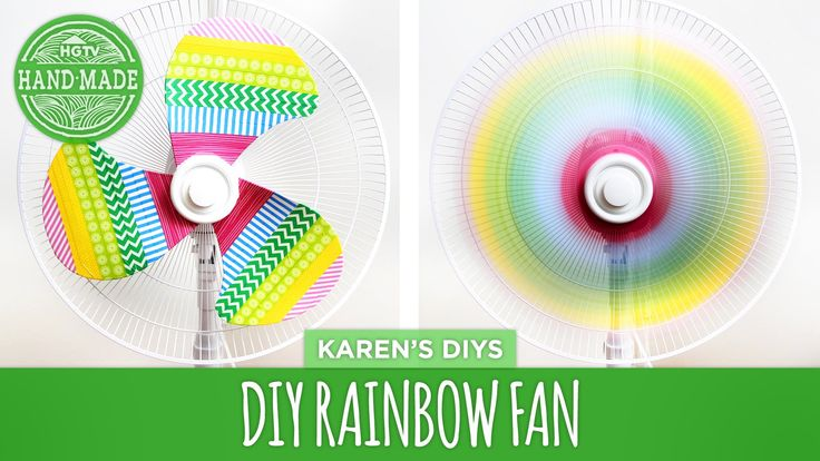 DIY Rainbow Fan - use washi tape to be able to switch out the colors!