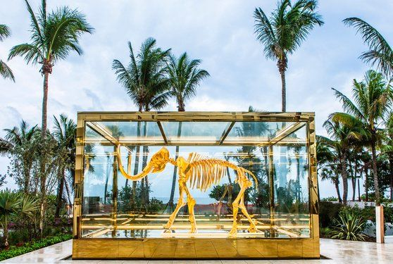 Hirst's golden mammoth on display at Faena Hotel Miami Beach - Damien Hirst