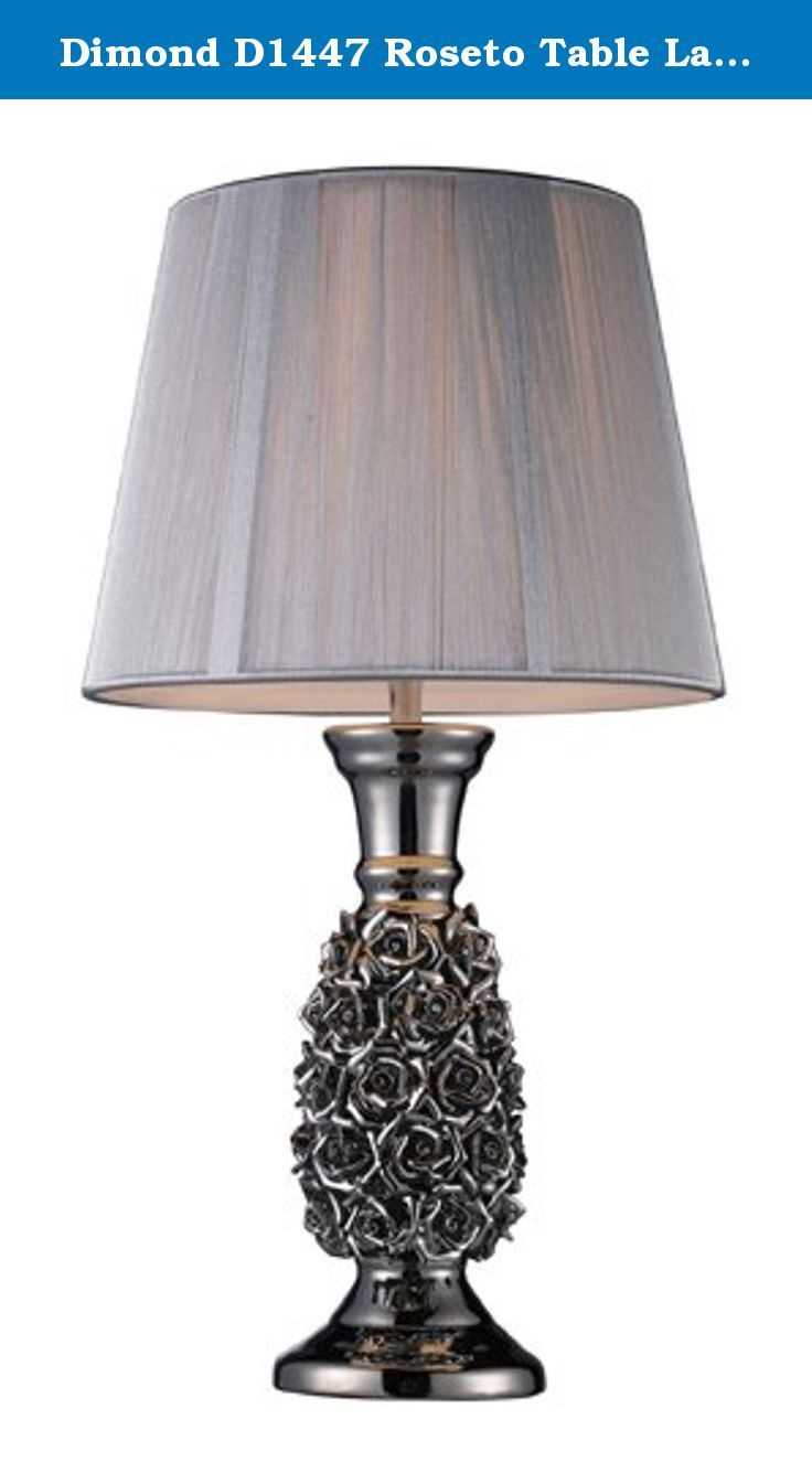 Dimond D1447 Roseto Table Lamp, Alisa Silver. Roseto Table Lamp in Alisa Silver.