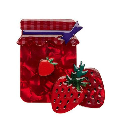 "Erstwilder Limited Edition Popular Preserve Brooch. ""As the friendly folk at Erstwilder HQ often energetically exclaim: 'That's my jam!'"""
