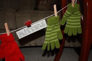 """Merry Musical Mittens.""  Christmas singing time idea."