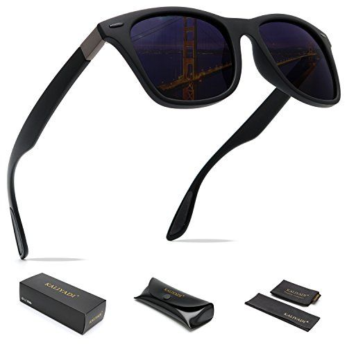 329e483f1de KALIYADI Mens Wayfarer Sunglasses Polarized Women - Memory Material Durable