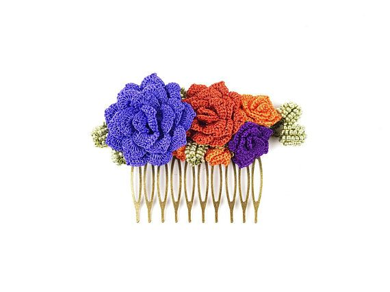 Check out this item in my Etsy shop https://www.etsy.com/listing/607685205/hair-comb-bohemian-wedding-crochet