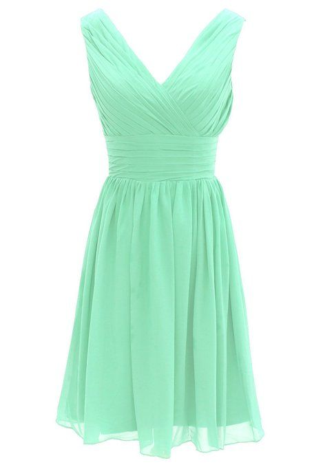 Short Bridesmaid Dress Chiffon Mint Bridesmaid Dress Bridesmaid Dresses 2014