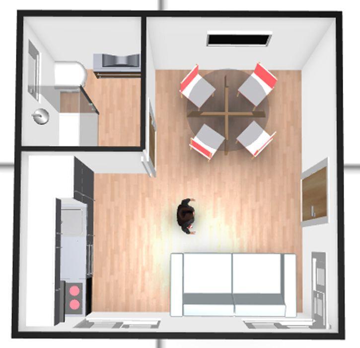 Plan en 3D du Green cottage