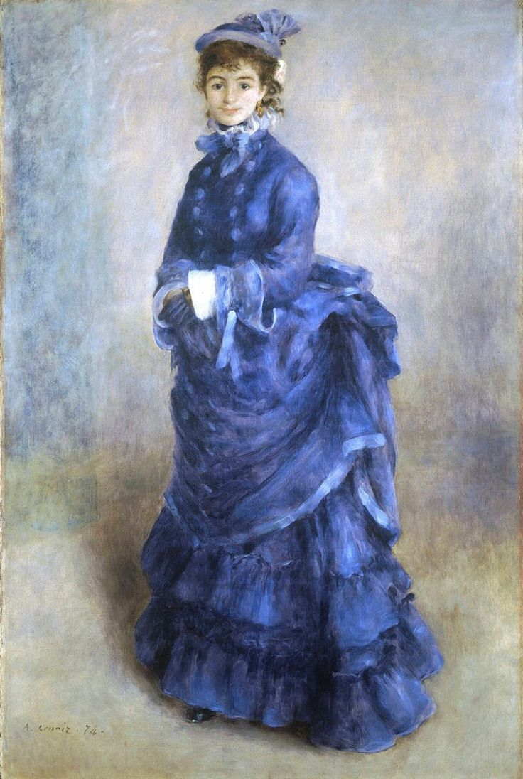 La Parisienne. Pierre-Auguste Renoir, 1874. Museo Nacional de Gales, Cardiff. Reino Unido.  https://commons.wikimedia.org/wiki/File:Pierre-Auguste_Renoir_089.jpg
