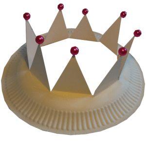 knutselen koningsdag koningskroon van een bordje
