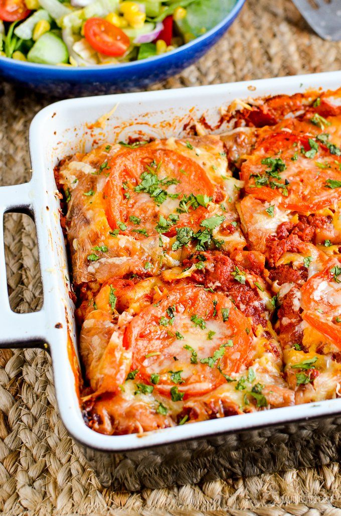 Syn Free Spicy Mexican Chicken Lasagne   Slimming Eats - Slimming World Recipes